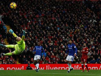 Mo Salah versus Everton