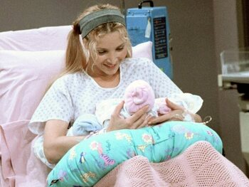 De zwangerschap van Lisa Kudrow