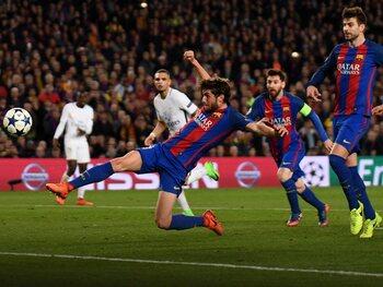 One day, one goal: Sergi Roberto mept PSG tegen het canvas
