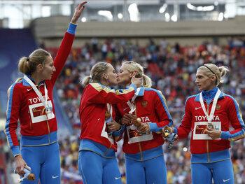 Un baiser russe aux Championnats du monde d'athlétisme