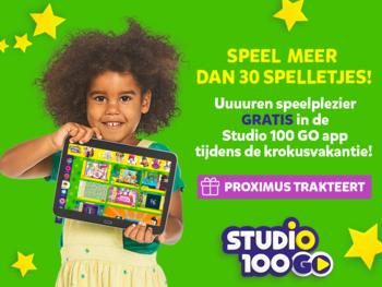 Proximus trakteert tijdens krokusvakantie: alle spelletjes van Studio 100 GO Pass gratis beschikbaar
