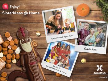 Sinterklaas op de buis bij je thuis dankzij Proximus Enjoy! en Studio 100