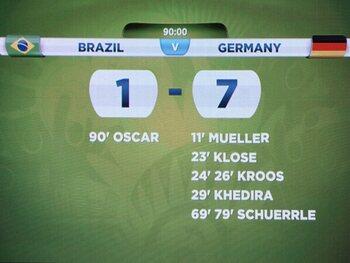 Le Brésil prend une claque