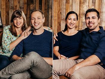 Lieve & Aljosja en Tim & Esther uit Blind Getrouwd
