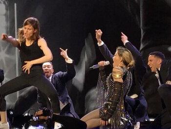 Sur scène avec Madonna !