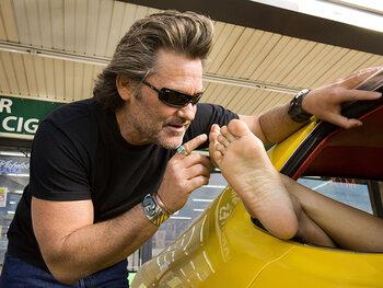 "Kurt Russell alias Mike Stuntman dans ""Boulevard de la mort"""