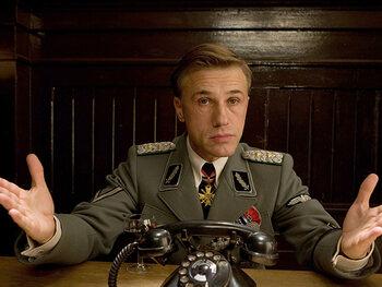"Christoph Waltz alias Hans Landa dans ""Inglourious Basterds"""