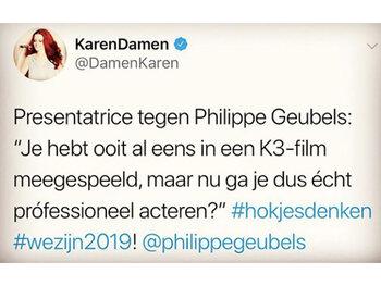 Karen Damen misnoegd over vraag journaliste: 'Hokjesdenken'