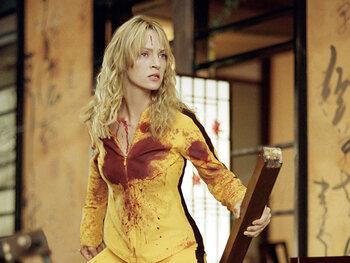 """Uma Thurman alias La Mariée dans """"Kill Bill"""""""