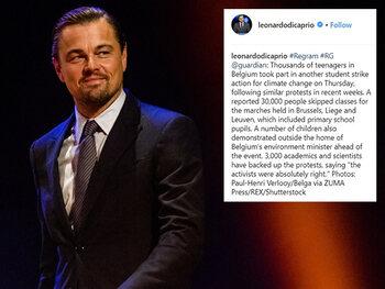 Leonardo DiCaprio Instagramde over Belgische klimaatbetogers