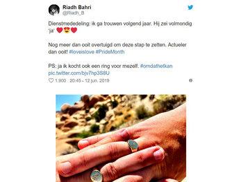 Riad Bahri gaat trouwen met Niels