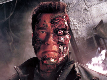 The Terminator gaat ook wel eens graag een hapje eten