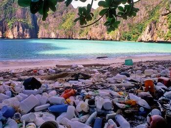 Van paradijselijk strand naar stort