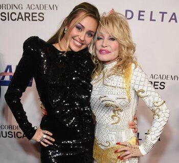 Miley Cyrus en Dolly Parton