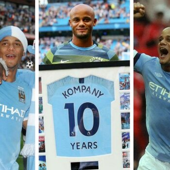 Vince, the prince of Manchester: tien jaar Kompany bij Man City