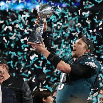 Nick Foles lors du Super Bowl LII