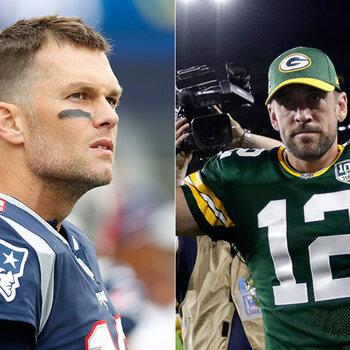 New England Patriots - Green Bay Packers Tom Brady vs Aaron Rodgers