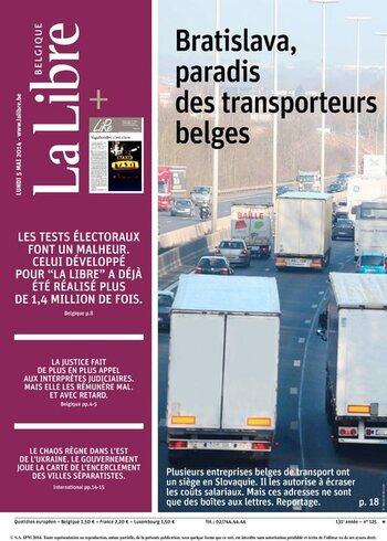 La Libre Belgique du lundi 05/05/2014