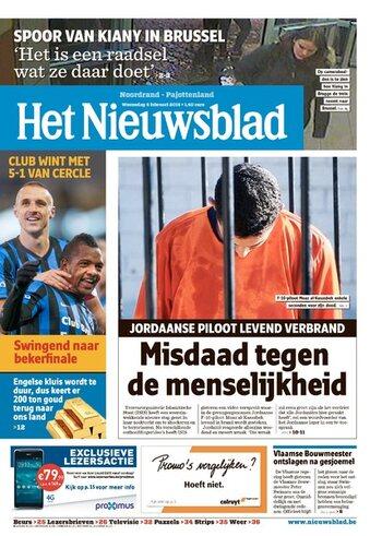 Het Nieuwsblad van 04/02/2015