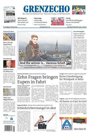 Grenz Echo du samedi  08/11/2014