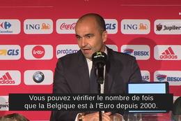 Conférence de presse: Roberto Martinez à propos de la qualification pour l'Euro