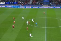 Goal: Paris SG 2 - 0 Galatasaray 35', Sarabia