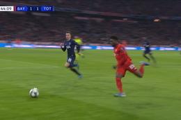 Goal: Bayern München 2 - 1 Tottenham Hotspur 45', Muller