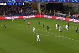 Goal: FC Bruges 1 - 2 Real Madrid 64', Vinicius Junior
