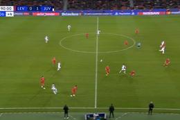 Goal: Bayer Leverkusen 0 - 2 Juventus Turin 90', Higuain