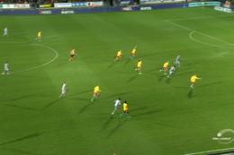 Goal: KV Oostende 0 - 1 Waasland-Beveren 4', Milosevic