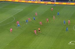 Goal: La Gantoise 1 - 0 Mouscron 9', Depoitre