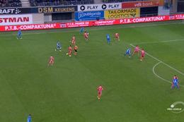 Goal: KAA Gent 3 - 1 Moeskroen 77', David