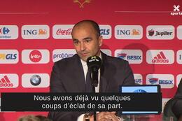 Conférence de presse: Roberto Martinez à propos de Maxime Lestienne