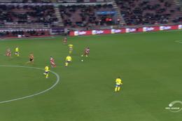 Goal: Mouscron 1 - 0 Waasland-Beveren 77', Boya