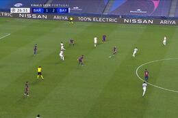Goal: FC Barcelona 1 - 3 Bayern München 27' Gnabry