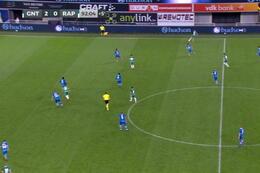 Goal: La Gantoise 2 - 1 Rapid Vienne 93' Grahovac