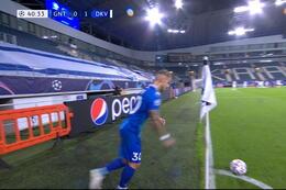 Goal: Dynamo Kiev 1 - 1 La Gantoise 41', Kleindienst
