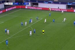 Goal: KAA Gent 1 - 2 Dynamo Kyiv 79', De Pena