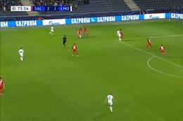 Goal: Red Bull Salzburg 2 - 2 Lokomotiv Moskou 75' Lisakovich