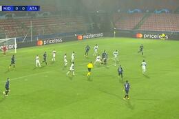 Goal: Midtjylland 0 - 1 Atalanta Bergamo 26' Zapata