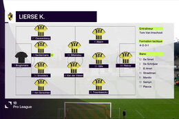 Speeldag 8 RWD Molenbeek - Lierse Kempenzonen (2-0)