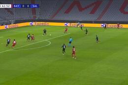 Goal: Bayern München 1 - 0 Red Bull Salzburg 43' Lewandowski