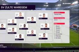 Speeldag 14 La Gantoise - SV Zulte Waregem (0-3)