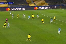 Goal: Borussia Dortmund 1 - 0 Lazio Roma 44' Guerreiro