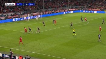 Goal: Bayern München 1 - 0 Crvena Zvezda 34', Coman