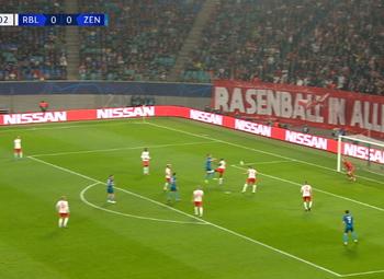 Goal: RB Leipzig 0 - 1 Zenit 25', Rakitsky