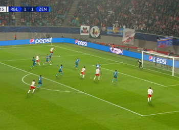 Goal: RB Leipzig 2 - 1 Zenit 59', Sabitzer