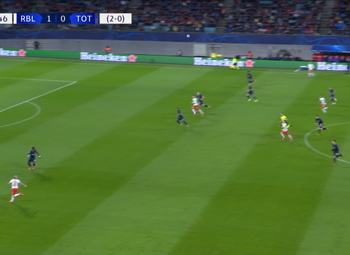 Goal: RB Leipzig 2 - 0 Tottenham Hotspur 22', Sabitzer