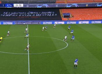 Goal: Valencia CF 1 - 1 Atalanta Bergamo 21', Gameiro