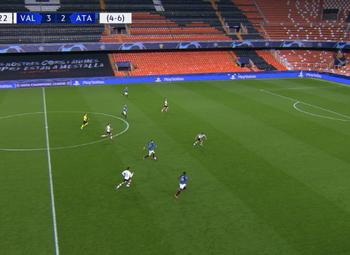 Goal: Valencia CF 3 - 3 Atalanta Bergamo 71',Ilicic